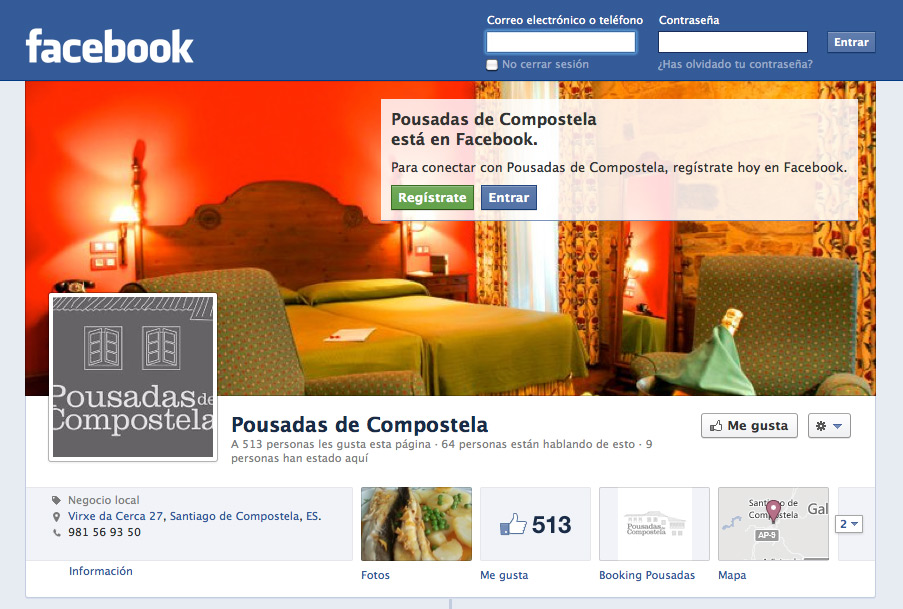 Social Media Marketing para Pousadas de Compostela