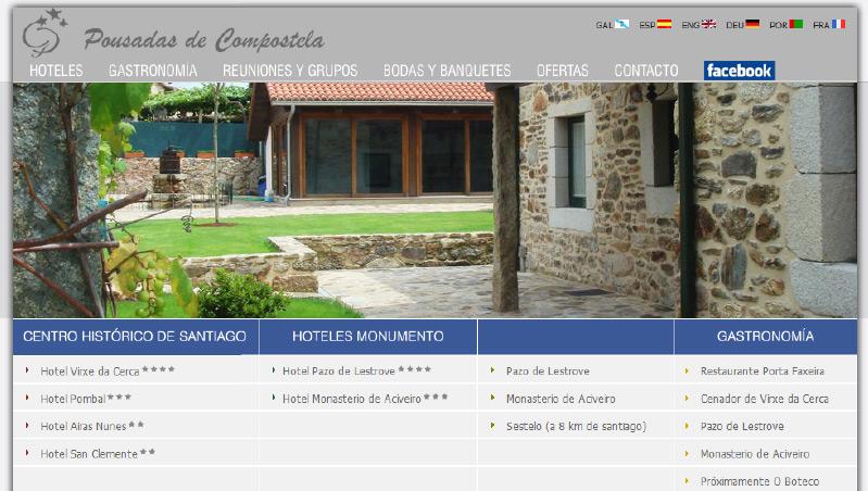 Auditoría Web Pousadas de Compostela