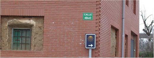 flecha camino de santiago