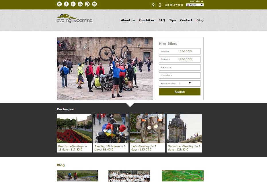 web cycling the camino